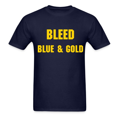 Bleed Blue & Gold - Men's - Men's T-Shirt