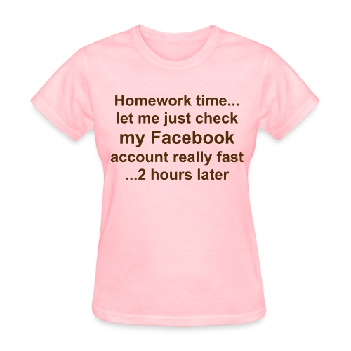 (Girls) Homework Time shirt - Women's T-Shirt