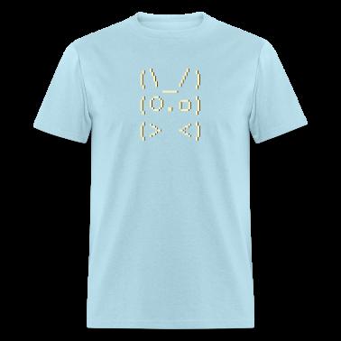 Sky blue ascii art: bunny T-Shirts