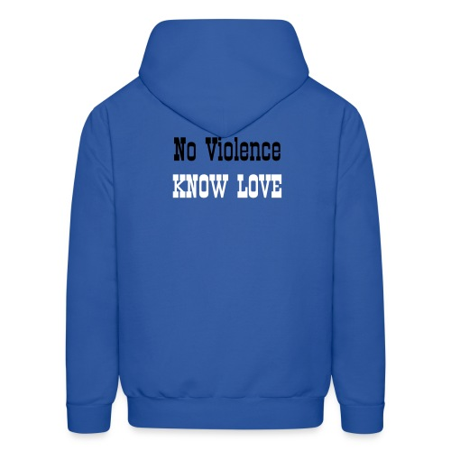 KNOW LOVE NO VIOLENCE - Men's Hoodie