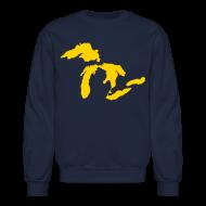 Long Sleeve Shirts ~ Crewneck Sweatshirt ~ Just Michigan Men's Crewneck Sweatshirt (not glow in dark)