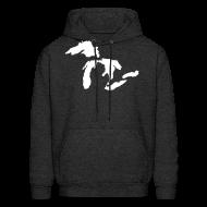 Hoodies ~ Men's Hoodie ~ Just Michigan Men's Hooded Sweatshirt (not glow in dark)