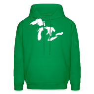 Hoodies ~ Men's Hoodie ~ Just Michigan Men's Hooded Sweatshirt (not glow in dark)