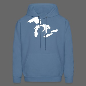 Just Michigan Men's Hooded Sweatshirt (not glow in dark) - Men's Hoodie