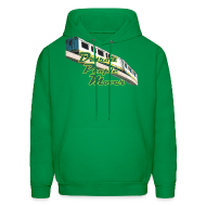 Hoodies ~ Men's Hoodie ~ Detroit People Mover Men's Hooded Sweatshirt