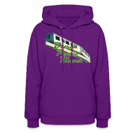Hoodies ~ Women's Hoodie ~ Detroit People Mover Women's Hooded Sweatshirt