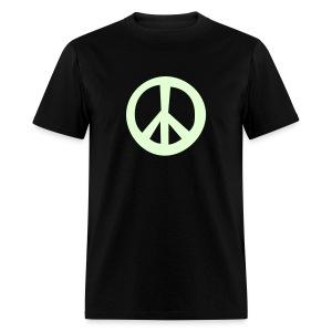 Glow in the Dark Peace Sign T-Shirt (Black) - Men's T-Shirt