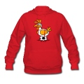 Red Laying Soccer Balls Hoodies
