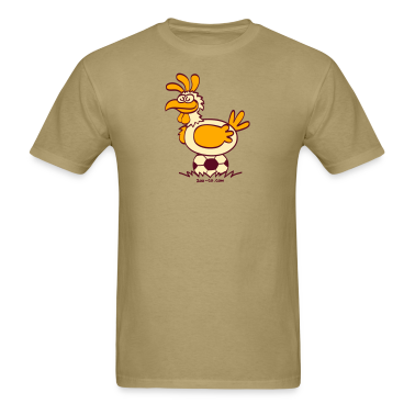 Khaki Laying Soccer Balls T-Shirts