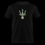 T-Shirts ~ Men's T-Shirt ~ GLOW-IN-THE-DARK TRIDENT T-Shirt - Poseidon Tee