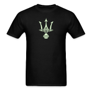 T-Shirts ~ Men's T-Shirt ~ GLOW-IN-THE-DARK TRIDENT T-Shirt - Poseidon Tee