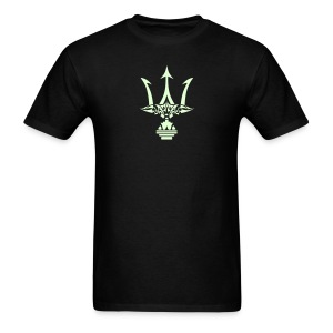 GLOW-IN-THE-DARK TRIDENT T-Shirt - Poseidon Tee - Men's T-Shirt