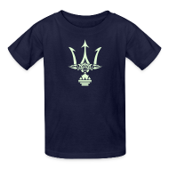 Kids' Shirts ~ Kids' T-Shirt ~ GLOW-IN-THE-DARK TRIDENT Kids T-Shirt - Poseidon Tee
