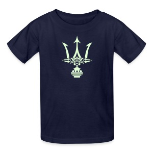 GLOW-IN-THE-DARK TRIDENT Kids T-Shirt - Poseidon Tee - Kids' T-Shirt
