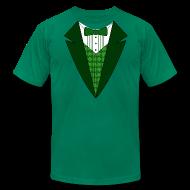 T-Shirts ~ Men's T-Shirt by American Apparel ~ Irish Tuxedo T-Shirt, Green St Patricks Day Tuxedo Shirt