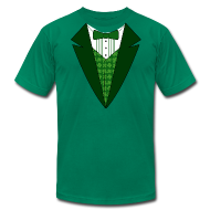 T-Shirts ~ Men's T-Shirt by American Apparel ~ Irish Tuxedo T-Shirt, Green St Patricks Day Tuxedo Shirt