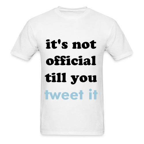 tweet it shirt - Men's T-Shirt