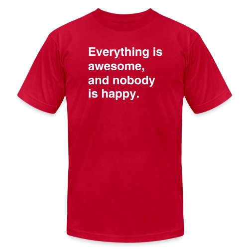 Everything Is Awesome - Men's - Men's  Jersey T-Shirt
