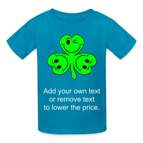Smiling Clover Leaves - Kids' T-Shirt