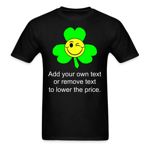 Smiley Shamrock - Men's T-Shirt