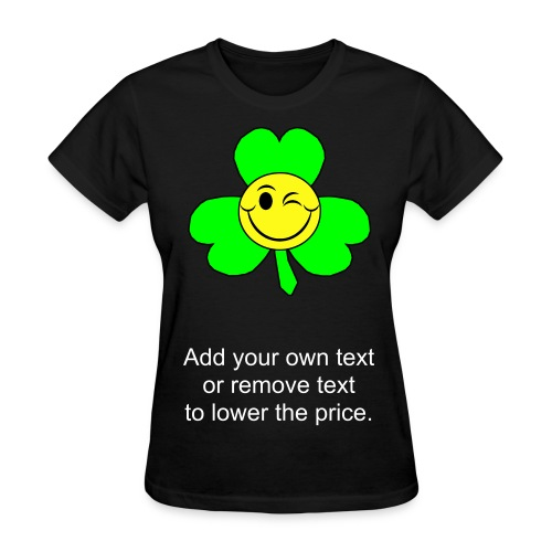 Smiley Shamrock - Women's T-Shirt