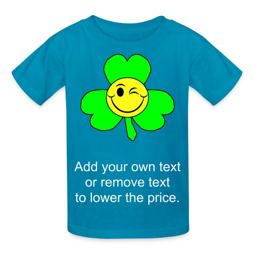 Smiley Shamrock - Kids' T-Shirt