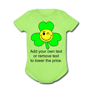 Smiley Shamrock - Short Sleeve Baby Bodysuit