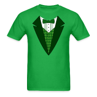 T-Shirts ~ Men's T-Shirt ~ Value Irish Tuxedo T-Shirt, Green St Patricks Day Tuxedo Shirt