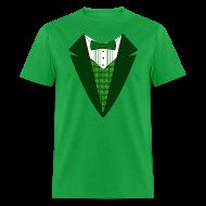 T-Shirts ~ Men's T-Shirt ~ Value Irish Tuxedo T-Shirt, Green St Patricks Day Tuxedo Shirt