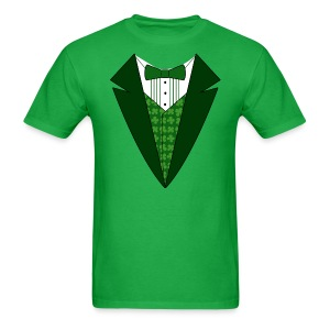 Value Irish Tuxedo T-Shirt, Green St Patricks Day Tuxedo Shirt - Men's T-Shirt