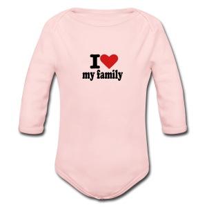 family - Long Sleeve Baby Bodysuit