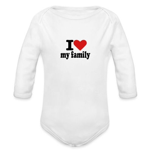 family - Organic Long Sleeve Baby Bodysuit
