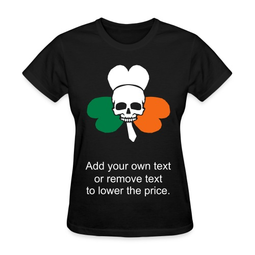 Irish Flag Shamrock and Skull - Women's T-Shirt