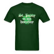 funny st patricks day t shirt st paddy is my homeboy t shirt st