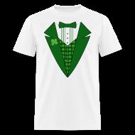 T-Shirts ~ Men's T-Shirt ~ Leprechaun Tuxedo T-Shirt, Irish Tuxedo Shirt