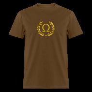 T-Shirts ~ Men's T-Shirt ~ Metallic Olympus Design T-Shirt - Omega