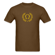T-Shirts ~ Men's T-Shirt ~ Metallic Olympus Design T-Shirt - Omega