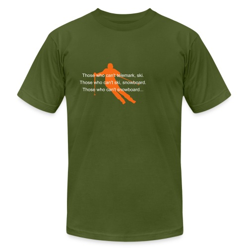 For JJ! Telemark madness. - Men's Fine Jersey T-Shirt