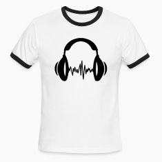 White/black music T-Shirts