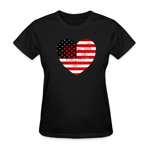 heart usa - Women's T-Shirt