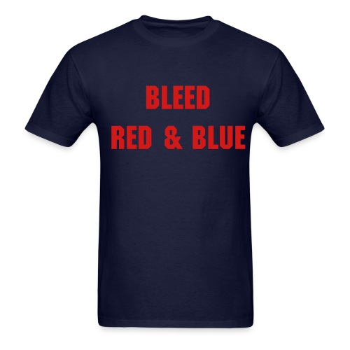 Bleed Red & Blue - Men's - Men's T-Shirt
