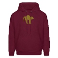 Burgundy black tomcat (1c) Hoodies