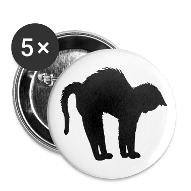 White black tomcat (1c) Buttons