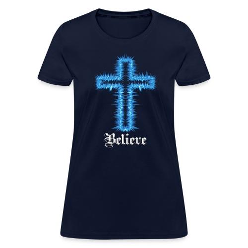 Blue Inspiration V.2(editable) - Women's T-Shirt