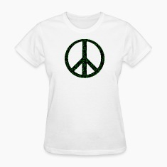 White Clover Peace Sign Women's T-Shirts