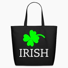 Black 4 leaf clover Bags