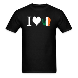 I Heart Irish Kitty - Men's T-Shirt
