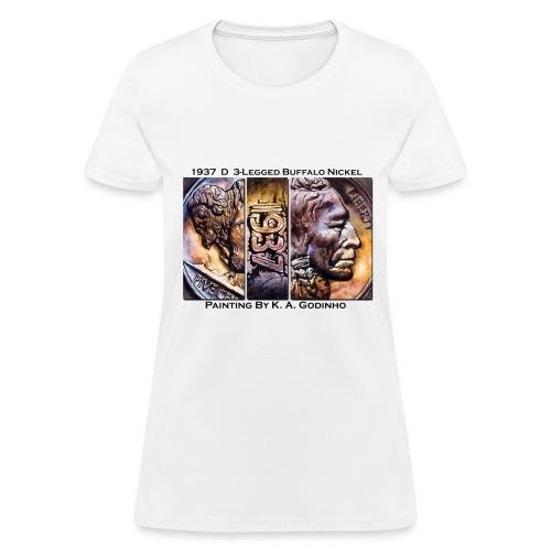 1937 D 3-Leg Buffalo Nickel White Women's T-shirt - Women's T-Shirt