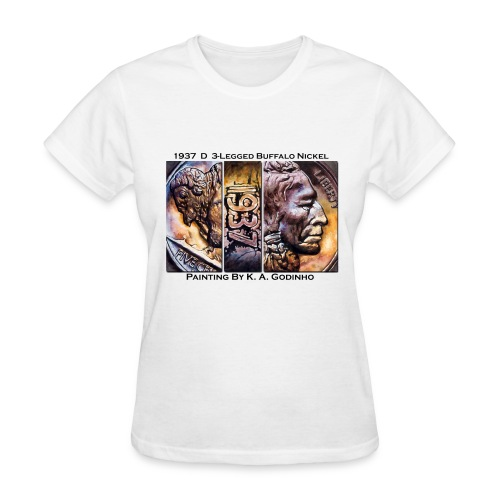 1937 D 3-Leg Buffalo Nickel White Women's T-shirt - Women's T-Shirt