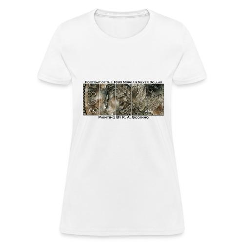 1893 Morgan Silver Dollar White Women's T-shirt - Women's T-Shirt